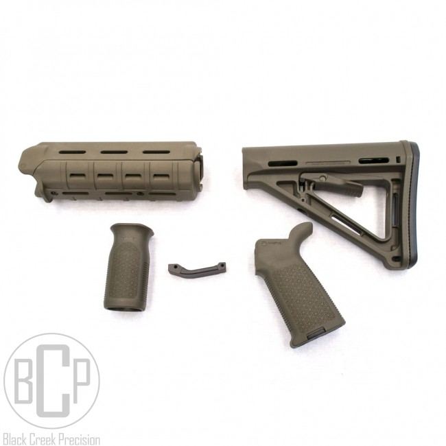 Magpul Moe Ar 15 Polymer Furniture Kit Od Green Rails