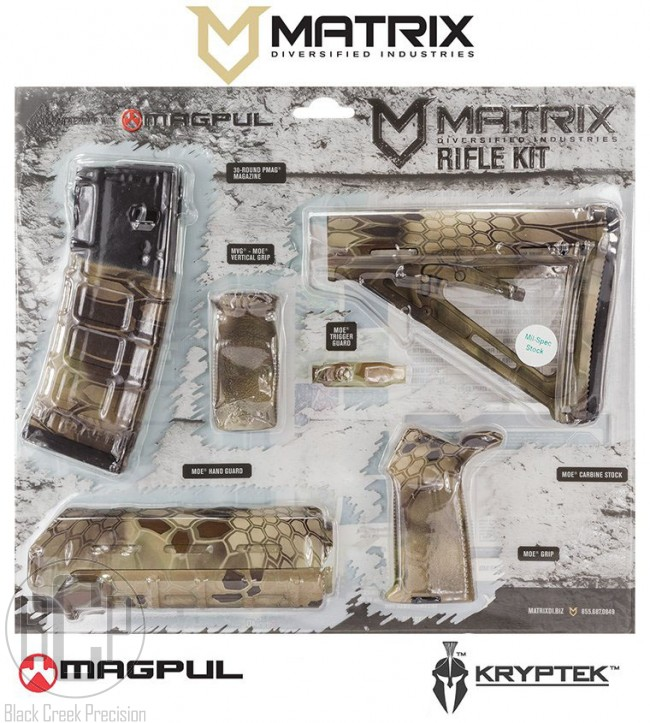 Mdi Magpul Ar 15 Polymer Furniture Kit Highlander Camo Grips
