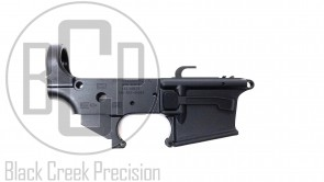 Black Creek Precision Model GLK-F Dedicated 9mm Lightened Forged Lower Receiver Assembly for Glock Mags