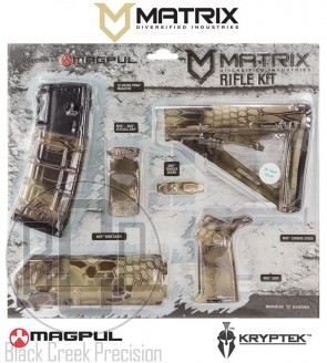 MDI / Magpul AR-15 Polymer Furniture Kit Highlander Camo
